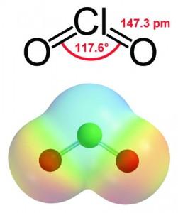 Chlorine Dioxide Molecule..